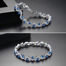 Fashion Women Crystal Zircon Bracelet Bridal Wedding Party Evening Bangle Jewelr