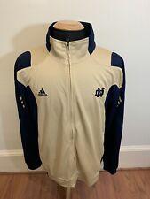 "Gold ADIDAS ""Climalite"" Notre Dame Fightin Irish Team Sweat Full Zip Jacket XL"