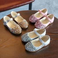 Toddler Kids Infant Baby Girls Crystal Leather Single Shoes Party Princess Shoes