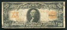FR. 1181 1906 $20 TWENTY DOLLARS GOLD CERTIFICATE CURRENCY NOTE