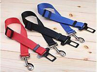 Dog Pet Adjustable Car Safety Seat Belt Harness Restraint Lead Leash Travel Clip