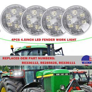 """4PCS 4.5"""" In. LED Fender Work Light For John Deere 4055 4255 4455 4555 4755 4950"""