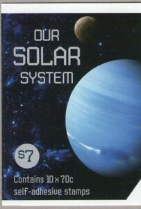 2015 AUSTRALIAN STAMP BOOKLET OUR SOLAR SYSTEM 10 x 70c STAMPS MUH