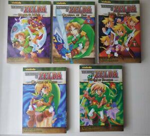 Lot OF 5 The Legend Of Zelda Manga Vizkids Akira Himekawa