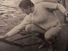 "M1 - Vintage Knitting Pattern For Men's Aran Jumper - Chest 38-42"""
