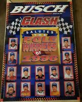 BUSCH CLASH Vintage POSTER POLE WINNERS OF1996 WITH PHOTOS OF NASCAR GREATS.🚘🚘