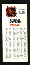 NHL--1987-88 Brochure Schedule