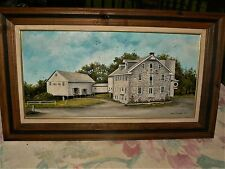 """Fine Art by Dorothy Hollinger Original Oil Painting """"Flory's Mill"""" Lancaster Pa."""