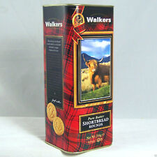 Cardboard & Tin Empty Walkers Shortbread Container Box Scotland Highland Cow 8""