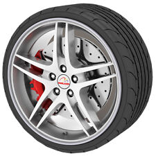 Rimblades Flex Silver Alloy Wheel Protector 4 Rim Trim Guard Protection Strips