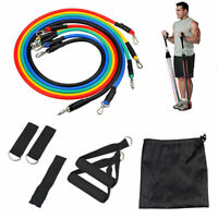 11Pcs/Set Resistance Bands Workout Exercise Yoga Crossfit Fitness Training Tube