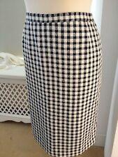Ann Harvey navy blue check skirt size 22