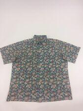 Reyn Spooner Mens Shirt Commemorative Classics Floral Hibiscus Blue Multi Sz XL
