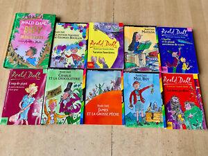 LOT 10 livres série Roald Dahl - édition Folio Junior + Grand format Gallimard