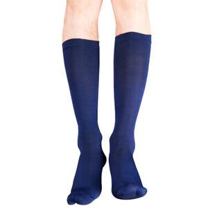 3 Pairs Men Long Tube Socks Sport Elastic Compression Stockings Business Dress