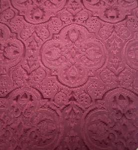 "Table Runner 72""X13"" Red Crimson Burgundy Christmas Embroidered Print Tassels"
