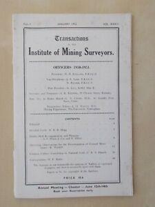 TRANSACTIONS OF INSTITUTE OF MINING SURVEYORS JANUARY 1952 - COAL MINING  12