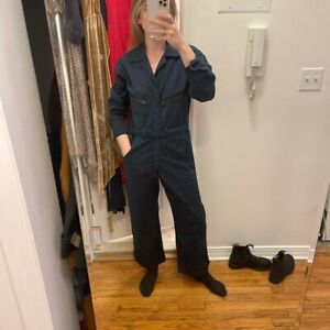 70's Navy Vintage Work Wear Jumpsuit Coveralls sz XS-S