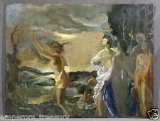 Mythological Apollo and Athena Oil Painting attr. to Anders D. Johansen (DANISH)