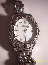 Ladies SEIKO Two Tone Stainless Steel w/ Diamonds Quartz Wrist watch. - REDUCED