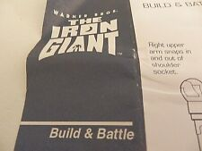 Instruction Manual for 1999 Trendmasters The Iron Giant Build & Battle Figure