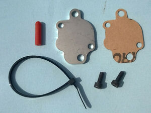 Fits Yamaha PW50 Oil Injection Block Off Plate with Gasket Hardware Port Cap