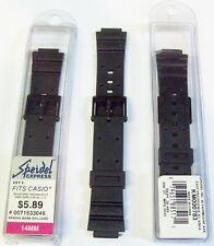 WHOLESALE LOT OF 200 SPEIDEL 14MM RUBBER SPORT WATCH BANDS FOR CASIO  .75 EACH