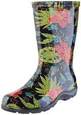 Sloggers Women's Rain&Garden Boot,Midsummer Black Print- size 9-Style 5002BK09