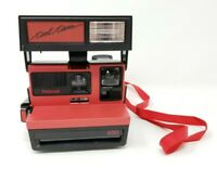 """Polaroid 600 """"COOL CAM"""" Black & Red Instant Camera Vintage UNTESTED"""