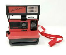 "Polaroid 600 ""COOL CAM"" Black & Red Instant Camera Vintage UNTESTED"