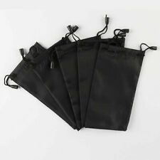 5pcs Black Microfiber Pouch Bag Soft Cleaning Case Sunglasses Glasses O6N6