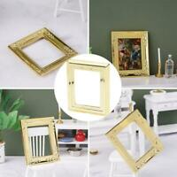 1:12 Doll House Square Gold Border Picture Frame Photo Border