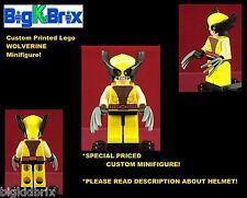 WOLVERINE Xmen Custom Printed LEGO Minifigure w/Custom Mask/Head *READ DESCRIPT