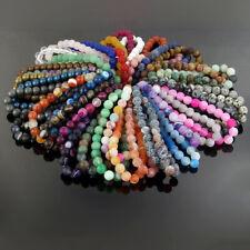 Stretchy Matte Stone Bracelets Natural Gemstone 8mm Beads Crystal Healing Reiki