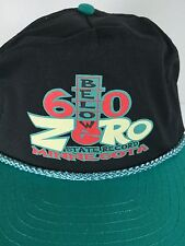SCK Vtg 96 60 Below Zero State Record Cold Minnesota Black Snapback Trucker Hat