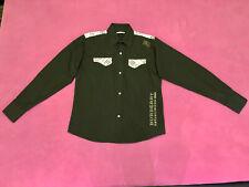 100 % Original BURBERRY Herren Hemd, schwarz, Größe L