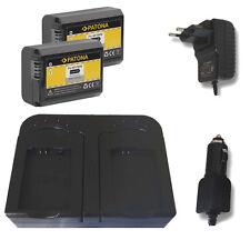 doble-cargador Sony Alpha α7 II//α7r II//α7s II-np-fw50 2 x patonas para-Batería