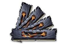 16GB G.Skill Ripjaws 4 DDR4 2400MHz PC4-19200 CL15 Quad Kit 4x4GB Black Heatsink