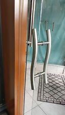 """SHOWER DOOR 6"""" OR 8"""" CURVED LADDER HANDLE BTB WITH EXTRA WIDE 7/8 TUBE CH OR BN"""