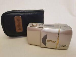 Compact Camera Nikon Lite Touch Zoom 120, 35mm Wet Film + Flash & Case CC106