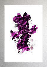 Minnie Mouse - Disney Art - Splash Effect - A4 Size
