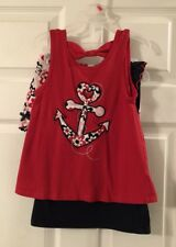 Little Girls Kids Headquarter Red White & Blue 3 Piece Outfit Size 6