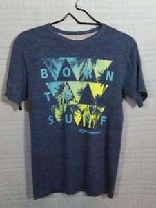 Place Boys XL Green Gray Born to Surf Graphic T-shirt