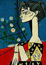 QUALITY CANVAS ART PRINT * PABLO PICASSO * Jacqueline with Flowers