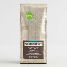 12 Oz. World Market Decaf Italian Roast Ground Coffee 3 Bags