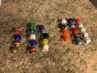 Vintage Lot of 28 1980s Complete NFL Gumball Mini Helmets All Teams