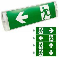 LED Notleuchte Fluchtwegleuchte Notbeleuchtung Notausgang Notlicht Akku 4Sticker