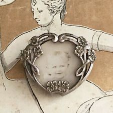 Broche Ancienne Porte Photo Art Nouveau 1900 Antique French Brooch