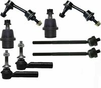 8 Pc Front Suspension Kit for Expedition & Navigator Tie Rod End, Sway Bar Link