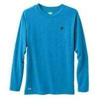 NEW Mens FILA Sport Blue Performance Wicking Long Sleeve Crew Tee Shirt-size XL